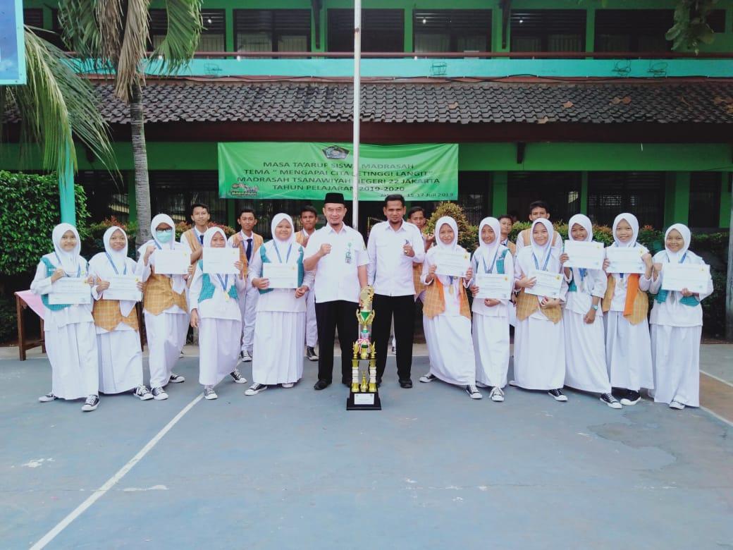 Ekskul Pencak Silat MTs Negeri 22 Jakarta Sabet Juara Umum Pencak Silat  Panca Sukma CUP 4 tahun 2019
