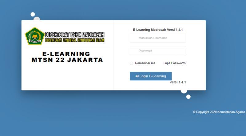 Portal Pembelajaran E-Learning Madrasah